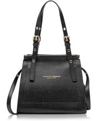 Francesco Biasia - Narciso Lizard Embossed Leather Satchel Bag - Lyst