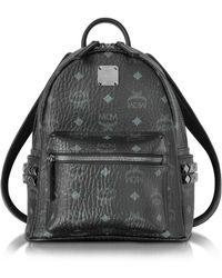 MCM - Black Mini Stark Backpack - Lyst