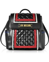 Love Moschino - Color Block Quilted Eco-leather Backpack - Lyst