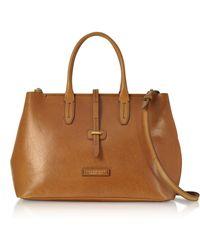 The Bridge - Large Leather Tote Bag W/shoulder Strap - Lyst