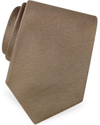 FORZIERI - Gold Line Solid Woven Silk Tie - Lyst
