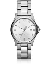 Marc Jacobs - Henry Silver Tone Crystal Women's Watch - Lyst
