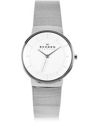 Skagen - Nicoline Stainless Steel Mesh Women's Watch - Lyst