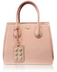 Balmain | 3d Powder Pink Glossy Leather Top Handle Bag | Lyst