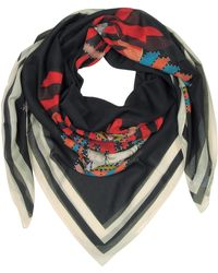 Givenchy - Geometric Rottweiler Printed Cotton And Silk Stole - Lyst