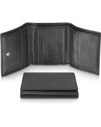 Giorgio Fedon - Classica - Women's Black Calfskin Small Trifold Wallet - Lyst