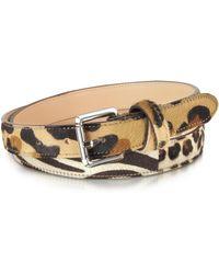 FORZIERI - Animal Print Haircalf Leather Belt - Lyst