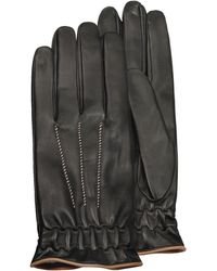 FORZIERI - Men's Black Cashmere Lined Calf Leather Gloves - Lyst