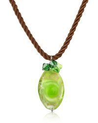 House of Murano | Vortice - Lime Murano Glass Swirling Drop Necklace | Lyst