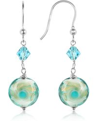 House of Murano | Vortice - Turquoise Swirling Murano Glass Bead Earrings | Lyst