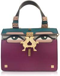 Giancarlo Petriglia - Mini Peggy Eyes Multicolor Leather Bag - Lyst