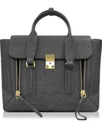 3.1 Phillip Lim - Pashli Ash And Charcoal Leather Medium Satchel - Lyst