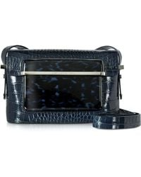 Mary Katrantzou - Embossed Croco And Printed Patent Leather Mvk Small Shoulder Bag - Lyst