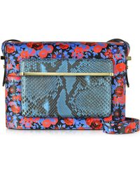 Mary Katrantzou - Gardenia Floral And Python Print Leather Mvk Medium Shoulder Bag - Lyst