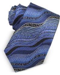 Missoni - Waves Woven Twill Silk Men's Narrow Tie - Lyst
