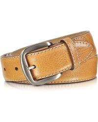 Manieri - Cognac Smooth Leather Belt - Lyst