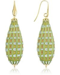 House of Murano - Old Venice - Oval Gold Foil Drop Earrings - Lyst