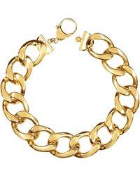 Pluma - The Gwyneth Golden Brass Link Necklace - Lyst