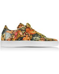 Cesare Paciotti - Pin Up Printed Leather Low Top Men's Sneaker - Lyst