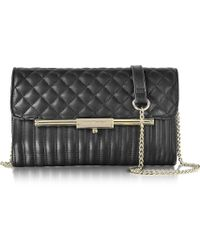 Roccobarocco - Utopia Black Quilted Eco Leather Crossbody Bag - Lyst