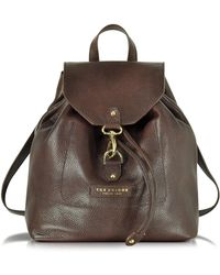 The Bridge - Plume Soft Donna Dark Brown Leather Backpack - Lyst