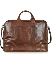 The Bridge - Cosmopolitan Large Brown Leather Weekender Bag - Lyst