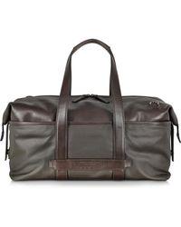 The Bridge - Pininfarina Fabric And Leather Duffle Bag - Lyst