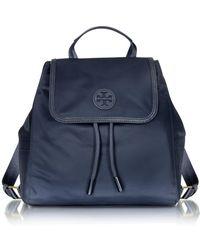 990325714fb7 Tory Burch - Scout Mini Tory Blue Nylon Backpack - Lyst