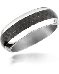 Zoppini - Zo Dark - Carbon Fibre & Stainless Steel Band Ring - Lyst