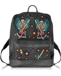 Zadig & Voltaire - Arizona Broderie Elephant Grey Canvas Backpack - Lyst