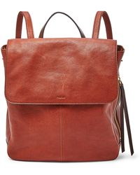 Fossil - Claire Backpack Handbags Brandy - Lyst