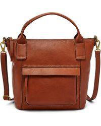 Fossil - Aida Satchel Handbags Medium Brown - Lyst