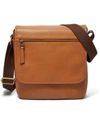 Fossil - Trey City Bag Bag Saddle - Lyst