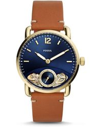 7db3be54d Fossil S Me1162 Grant Twist Three-hand Blue Leather Watch in Blue ...
