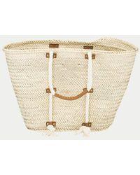 FRAME - Straw Tote Bag - Lyst