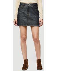 FRAME - Le Raw Mini Skirt Slit - Lyst