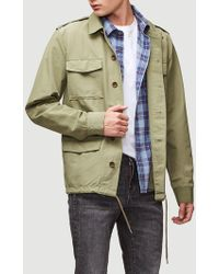 FRAME - Pc Slim Fit Military Jacket - Lyst