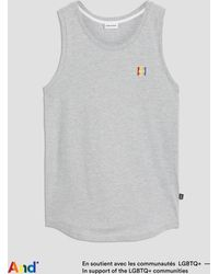 """Frank And Oak - """"and"""" Pride Tank In Grey - Lyst"""
