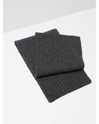 Frank And Oak - Donegal-wool Knit Scarf In Charcoal - Lyst