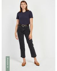 Frank And Oak - The Patti Straight-leg Jean In Washed Black - Lyst