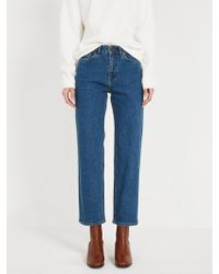 Frank And Oak - The Patti High Waisted Stretch Jean - Classic Indigo - Lyst