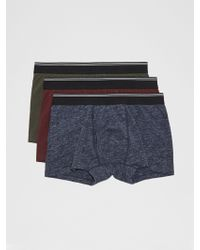 Frank And Oak - 3-pack Cotton Trunks In Multi Colour - Lyst