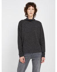 Frank And Oak - Fleece Mockneck Sweatshirt - Carbon Heather - Lyst