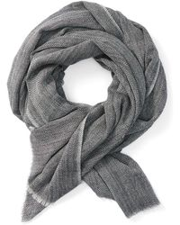 Frank And Oak - Herringbone Wool Scarf In Grey - Lyst