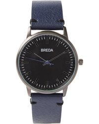 Frank + Oak | Breda Watch - Zapf In Navy With Black Face | Lyst
