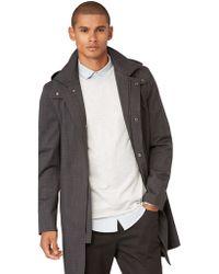 Frank And Oak - Tonal Mac Overcoat In Charcoal - Lyst