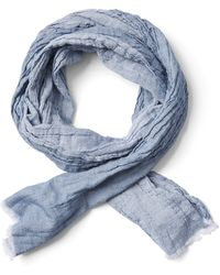 Frank And Oak - Lightweight Cotton Scarf In Light Blue - Lyst