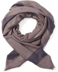 Frank And Oak - Lightweight Wool Scarf In Navy - Lyst
