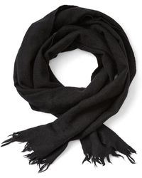 Frank And Oak - Wool Twill Scarf In Black - Lyst