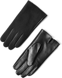 Frank + Oak - Wool & Leather Gloves In Black - Lyst